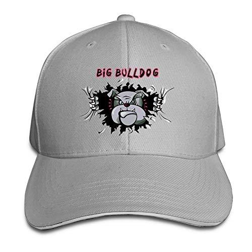 Adjustable Womens Mens English Bulldog Trucker Snadwich Caps Sun Peaked Hats Baseball Dad Golf Cap Ash ()