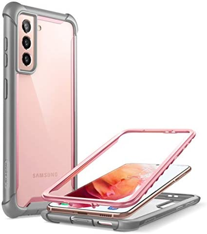 i-Blason Ares Series Case Designed for Galaxy S21 5G (2021 Release), Rugged Clear Bumper Case Without Built-in Screen Protector (Pink)