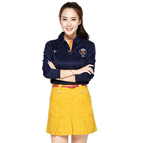 jpfashioning女性の弾性ゴルフプリーツスカートアウトドアスポーツスカート毎日アンダーウェアでカバー
