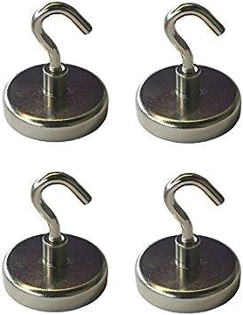 2 Magnethaken Halter mit Traglast von bis zu 6 kg Superstarke Magnete