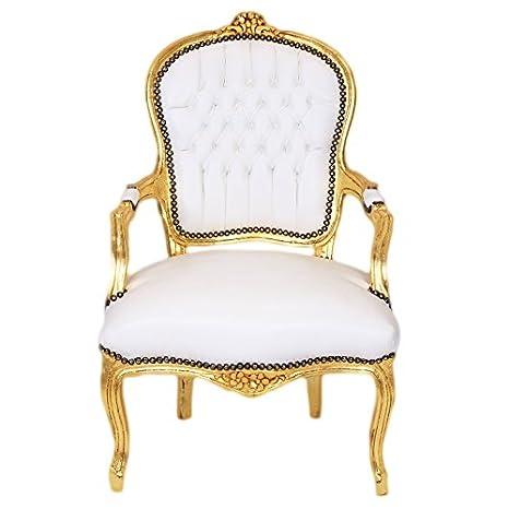 Casa Padirno Barroco Salón Blanco Silla/Oro - Estilo Antiguo ...