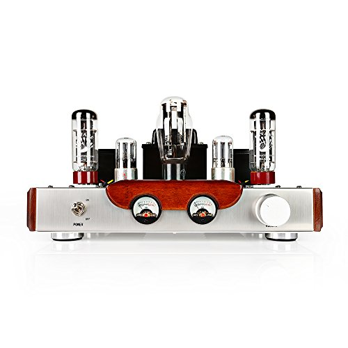 DEAFidelity DF-2 Single Ended Class-A Bluetooth EL34 Vacuum Hi-Fi Full Tube Amplifier 110V Input Voltage, Tubes EL342 & 6N9P2 & 5Z3P1 DEAFidelity