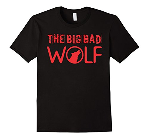 Men's The Big Bad Wolf Graphic Tee Shirt - Halloween Literary Fun 2XL Black