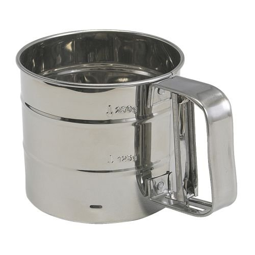 H2H Flour Sifter Stainless Steel Diameter 10.5 Cm Height 9.5 Cm by H2H