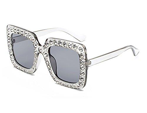Design Plaza Elegante grande Sol Bmeigo Gafas Mujer Gafas Eyewear Sparkling Oversized C3 De UV400 wqzFxwRB