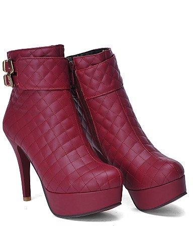 Redonda Beige Tacón Vestido Xzz De Punta Pink Uk6 Cn39 Semicuero Eu39 Negro Botas Rosa Mujer Zapatos Stiletto us8 qt7xStY
