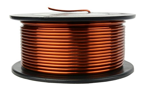 TEMCo 12 AWG Copper Magnet Wire - 1 lb 50 ft 200°C Magnetic Coil ()