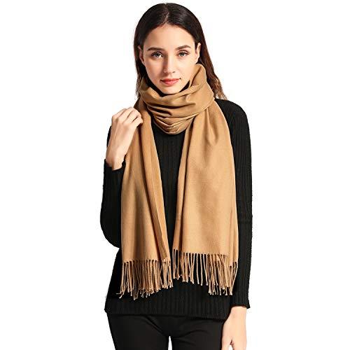 Pashmina Scaves Large Cashmere Scarves Women Stylish Warm Blanket Solid Winter Shawl Elegant Wrap 785quotx275quot Camel Bag packing