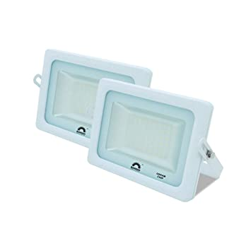 Pack de 2 Focos LED Exterior T-SPACE Blanco · Proyector LED ...