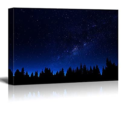 With a Professional Touch, Incredible Handicraft, Print Galaxy Above The Black Forest