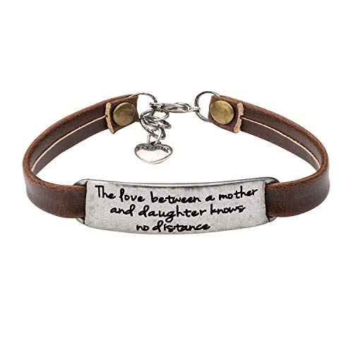 UNQJRY Relative Bracelets for Mom Grandmother Jewelry The Love Between a Mother and Daughter Knows no Distance