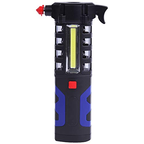 Cartman 5 in 1 COB Portable Work Light for Car Repairing or Emergency, 1W Torch + 3W COB + Red Warning Light + Emergency Hammer + Belt Cutter + Magnetic