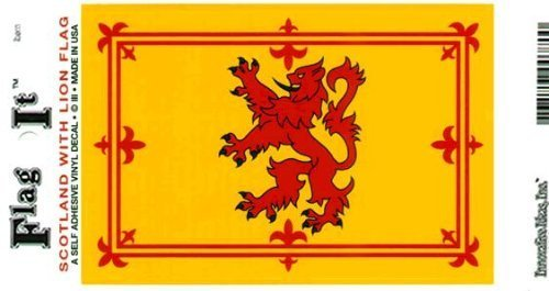 Flag It Scotland-Lion Heavy Duty Vinyl Bumper Sticker (3 x 5 Inches)