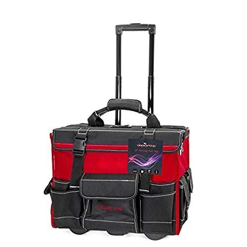 """Display4top 18"""" Rolling Tool Bag with Handle"""
