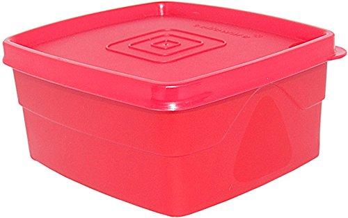 Cello Max Fresh Classic Square Medium Polypropylene Container 550ml Red