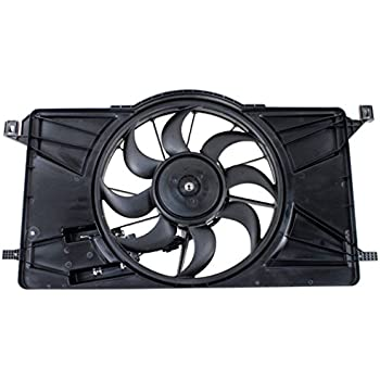 TOPAZ BV6Z-8C607-K Radiator Condenser Cooling Fan Assembly for 2012-2017 Ford Focus 2.0L