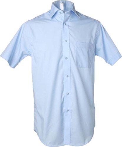 Neu Kustom Kit Herren Baumwolle Premium Bügelfrei Körperschaftlich Kurzärmeliges Hemd - Weiß, 16
