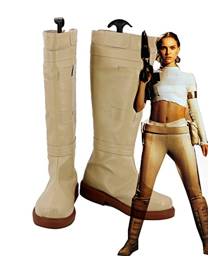 Star Wars 2 Attack Of The Clones Padme Naberrie AMIDALA Shoes Cosplay Costume Boots ()