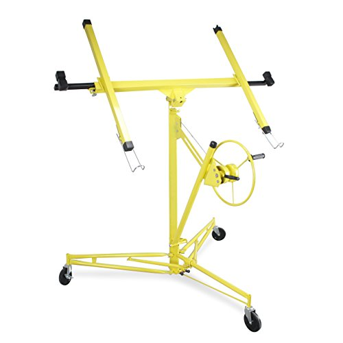 ARKSEN | Drywall Panel Lift | Dry Wall Panel Hoist | Lockable Lifter | Ceiling Max 11 FT | Angled Ceiling Max 15 FT | 150 LB Max | Caster Wheels | 65 Degree Tilt | Yellow by ARKSEN