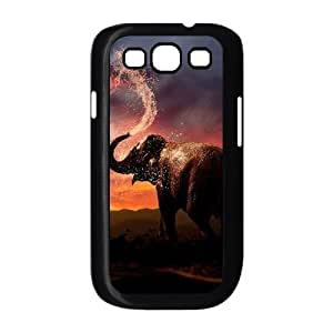 Bathing Elephant DIY Cover Case with Hard Shell Protection for Samsung Galaxy S3 I9300 Case lxa#844250 Kimberly Kurzendoerfer