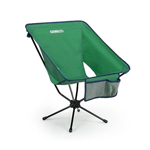 Compaclite Deluxe Steel Camping Portable Chair for Outdoor Camping / Picnic / Hiking  / Bicycling / Fishing / BBQ / Beach / Patio with Carry Bag, Hunter Green