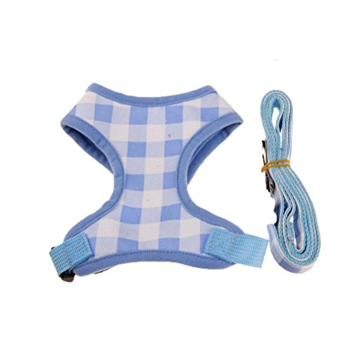 Clearance, OOEOO Dog Traction Harness Leash Lead Rope Outdoor Safety Vest Best Pet Supplies Walk Out (Blue, XL)