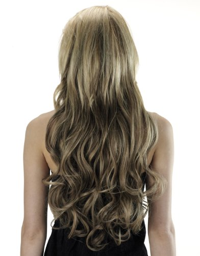 Tony of Beverly Womens Synthetic Clip In Hair Extensions ''Extends 26''-Caramel Kiss: 8 w/chunky gold & red ()