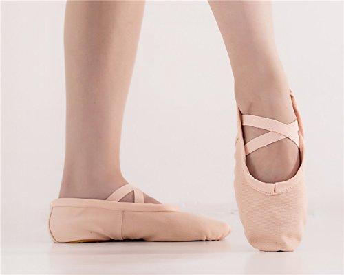 Scarpette Da Ballo In Tela Donna Staychicfashion Praticano Scarpe Piatte Yoga Divise Ventre Scarpe Rosa