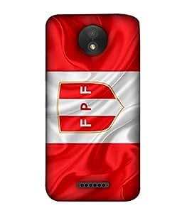 ColorKing Football Peru 09 Multicolor shell case cover for Motorola Moto C