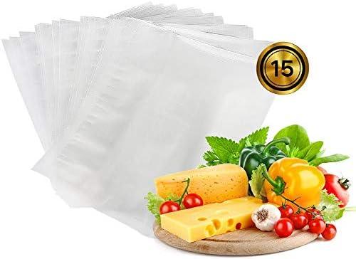 SEALER-F Envasadora al Vacío Domesticas, Maquina Envasar al Vacio de Alimentos para la Cocina, Modos Seco y Húmedo, Bolsa de Vacío Incluida15 Pcs Bags