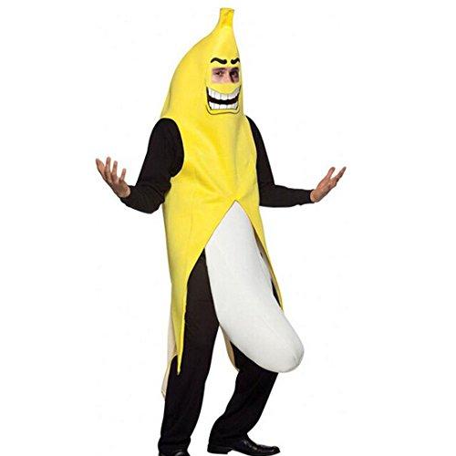 San Hojas Banana Flasher halloween costume Party Funny Dress (Banana Flasher Costume)