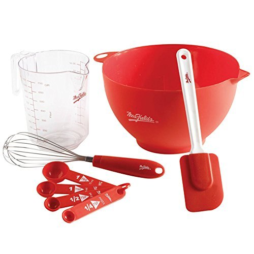 8 Pc. Mixing Bowl Essentials Set - Bowl, Measuring Cup, Whisk, And Spatula