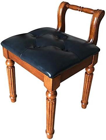 ピアノベンチ スツール木製の化粧コーヒーテーブル古筝の靴スツールドレッシングアメリカンスタイルのピアノスツールヨーロッパのファブリック ピアノに最適 (Color : Blue, Size : One size)