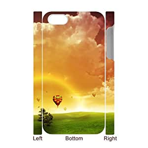 3D Dustin Balloon IPhone 4/4s Case Men Design Hot Air Balloon, Case for Iphone 4 for Men [White]