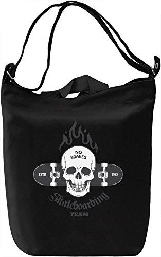 No brakes Borsa Giornaliera Canvas Canvas Day Bag| 100% Premium Cotton Canvas| DTG Printing|