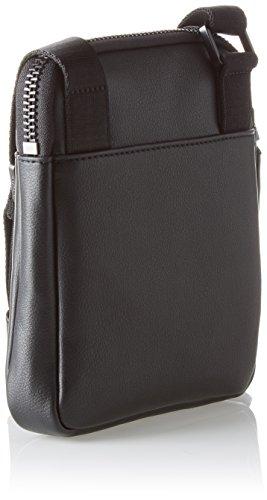 Calvin Klein Standout Mini Flat Crossover - Borse a spalla Uomo, Nero (Black), 3x20x17 cm (B x H T)