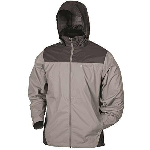 Frogg Toggs River Toadz Pack Jacket, Dove/Charcoal, Size Small
