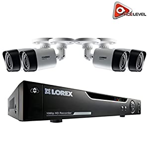 Lorex 4 Channel HD Analog DVR with 1TB HDD, 4x1080p Cameras with 130' Night Vision from Lorex