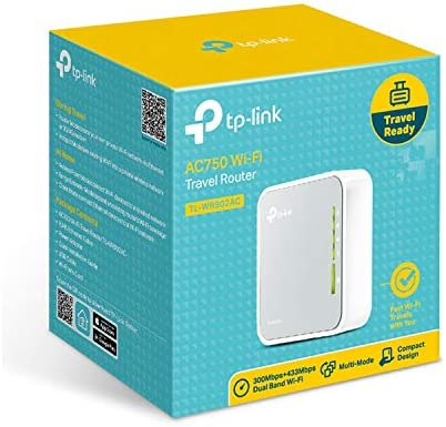 TP-Link AC750 Wireless Portable Nano Travel Router(TL-WR902AC) - Support Multiple Modes, WiFi Router/Hotspot/Bridge/Range Extender/Access Point/Client Modes, Dual Band WiFi, 1 USB 2.0 Port