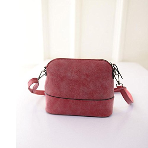 Women Messenger Purse Red Bag Handbag Scrub TM Fulltime Bag PU Leather Shoulder Satchel 6Ov5ZRq