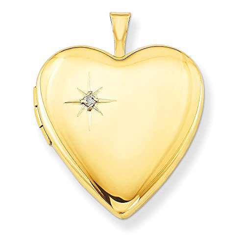 1/20 Gold Filled 20mm Diamond Heart Photo Pendant Charm Locket Chain Necklace That Holds Pictures W/chain Fashion Jewelry Gifts For Women For Her