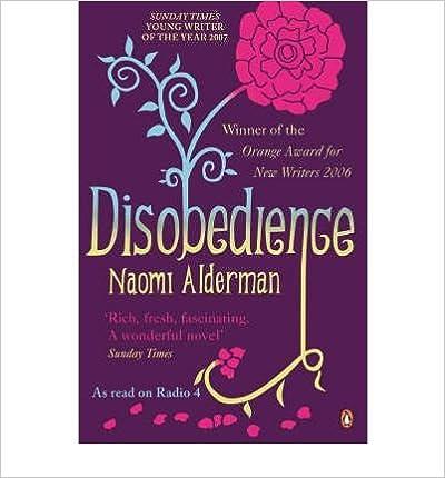 Book Disobedience by Naomi Alderman (2007-04-05)