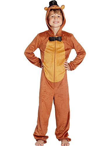Five Nights at Freddy's Boys Union Suit Pajama Set - Brown (Medium)