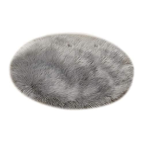 dozenla Modern Home Decoration Round Fluffy Warm Comfortable Plush Carpet Area Rugs