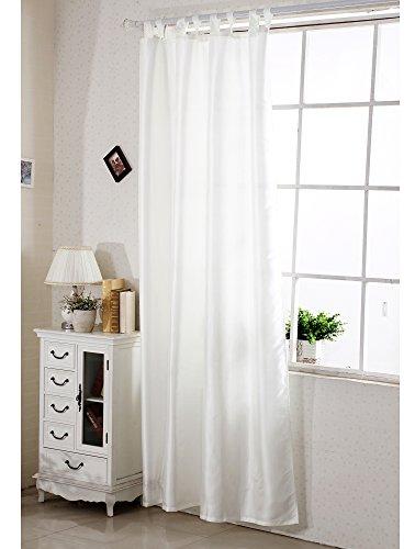 Schlaufenschal halbtransparent , Gardine Vorhang mit Schlaufen , halb transparent , halb blickdicht , Fensterschal Dekoschal Übergardine , Creme , VH5484