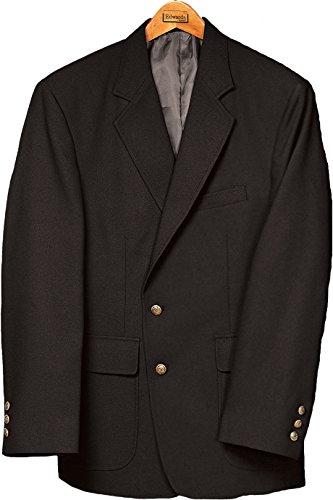 Ed Garments Men's Classic Two Button Single Breasted Blazer, BLACK, 44 Short