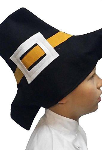 CHEFSKIN Adult Pilgrim Hat Thanksgiving Adult Teens Size Soft Comfortable Felt
