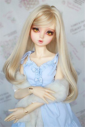 Tita-Doremi BJD Wig Ball-jointed Doll 1/3 8-9 inch Dollfie Volks Pullip Blythe (Blonde Craft Doll)