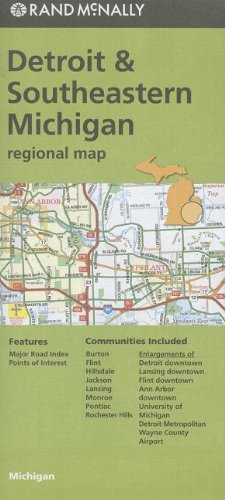 Rand McNally Folded Map: Detroit and Southeastern Michigan Regional Map