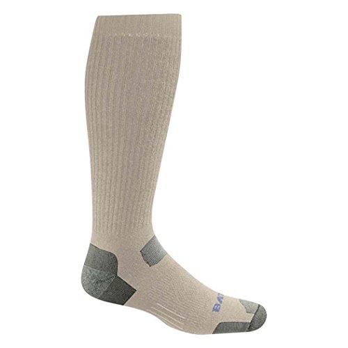 (Bates Men's Tactical Uniform Over The Calf Socks,Brown,L - Regular)